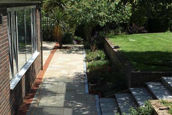 BMC Builders extension view of garden