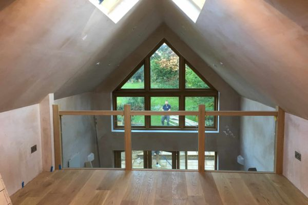 BMC Builders conversion completed interior mezzanine