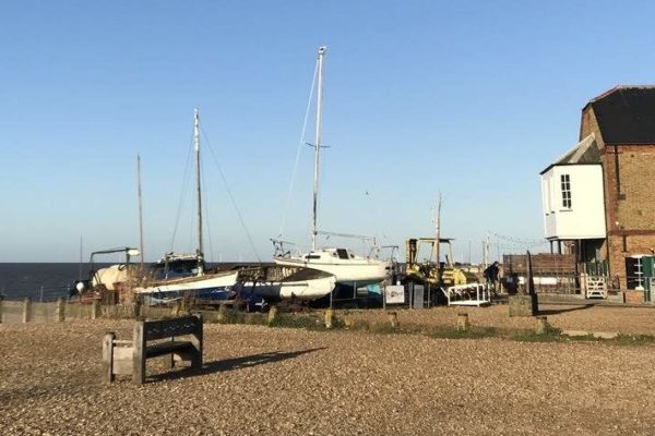 Whitstable beach and boats